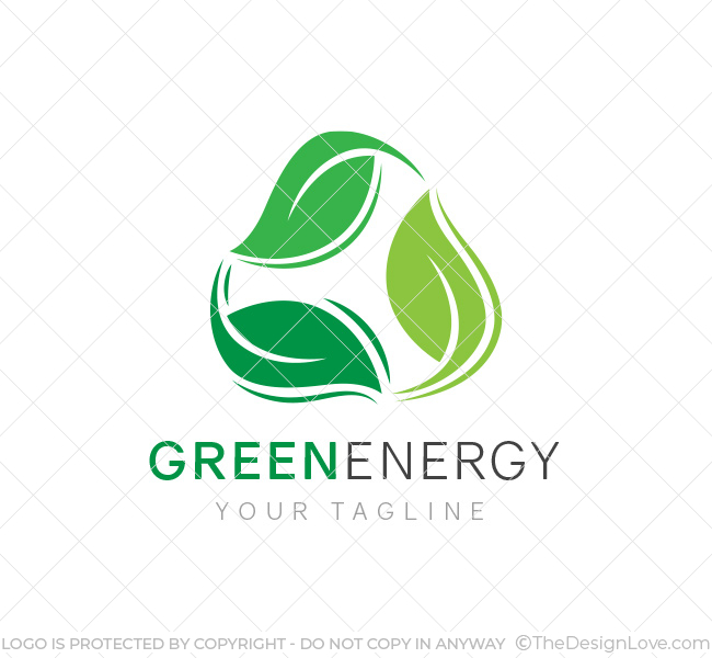 Green energy logo business card template the design love gree energy logo template wajeb Image collections