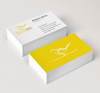 031-Yellow-Bird-Logo-&-Business-Card-Template