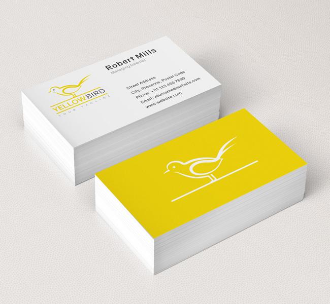Yellow bird logo business card template the design love 031 yellow bird logo business card template colourmoves