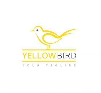 Yellow Bird Logo & Business Card Template