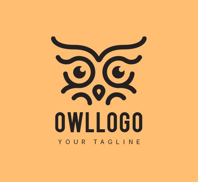 032-Owl-Eyes-Logo-Template_B