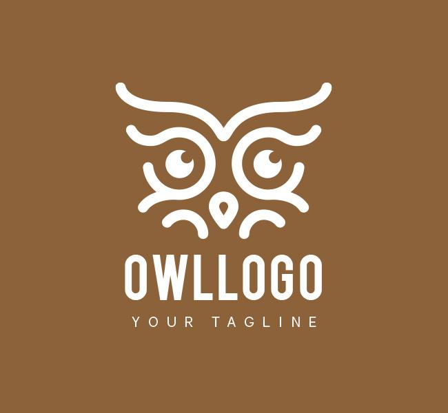 032-Owl-Eyes-Logo-Template_W