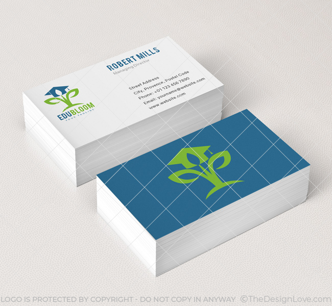 EduBloom Logo & Business Card Template The Design Love