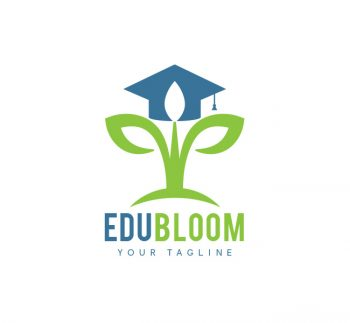 EduBloom Logo & Business Card Template