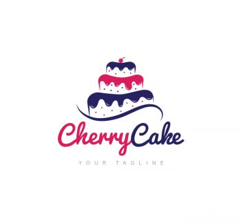 Cherry Cake Logo & Business Card Template