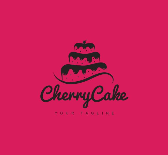 034-Cherry-Cake-Logo-Template_B