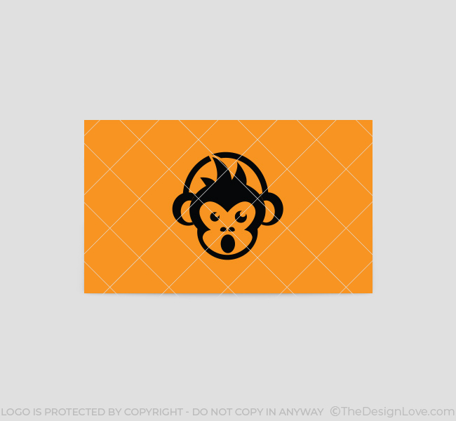 Dj monkey logo business card template the design love 036 dj monkey logo business card template reheart Images