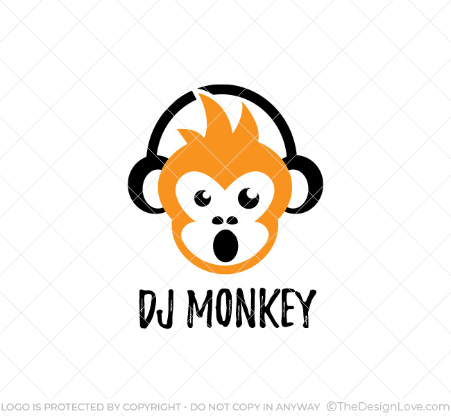 Dj monkey logo business card template the design love dj monkey logo business card template reheart Images