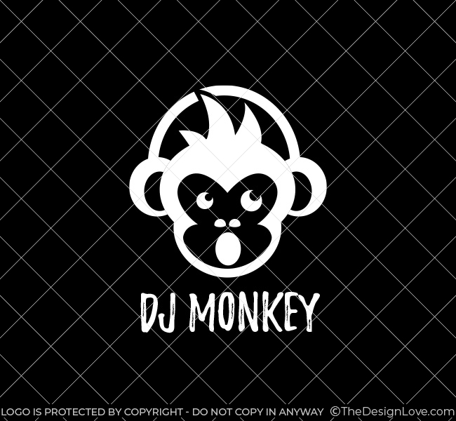 Dj Monkey Logo Amp Business Card Template The Design Love