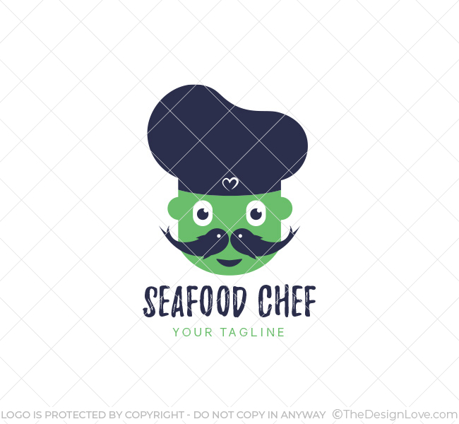seafood chef logo business card template the design love