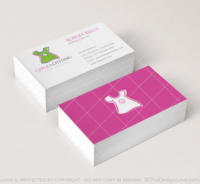 Girl clothing logo business card template the design love 039 girl clothing logo template business card cheaphphosting Images