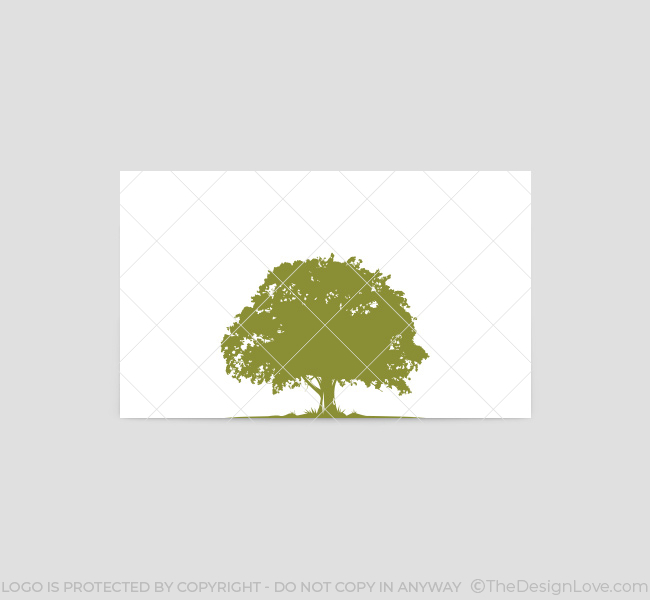 oak tree logo business card template the design love rh thedesignlove com oak tree logo vector