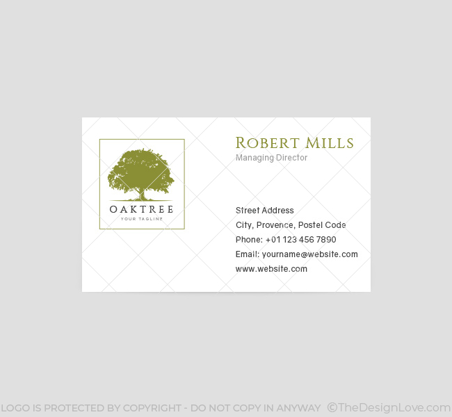 Oak Tree Logo  Business Card Template  The Design Love