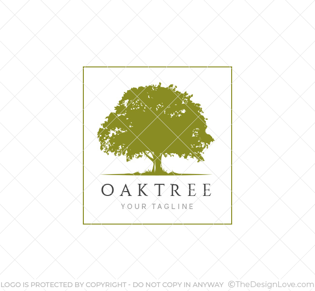 Oak tree logo business card template the design love oak tree logo template flashek Images