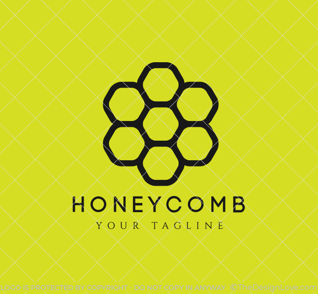honeycomb logo  u0026 business card template