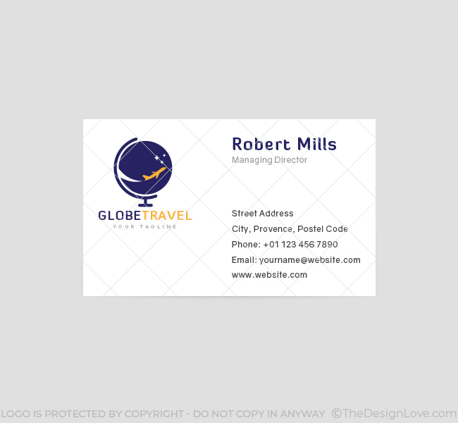 043-Globe-Travel-Logo-&-Business-Card-Template-Front