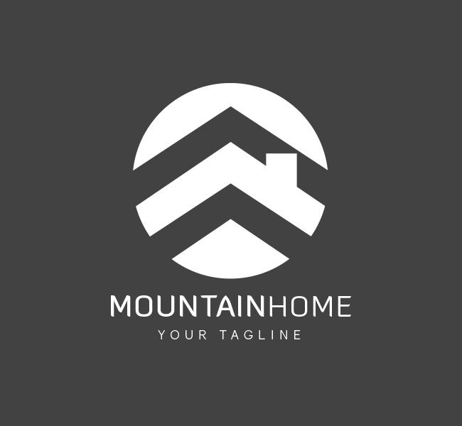 044-Mountain-Homes-Reality-Logo-Template