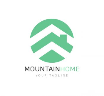 Mountain Homes Realty Logo & Business Card Template