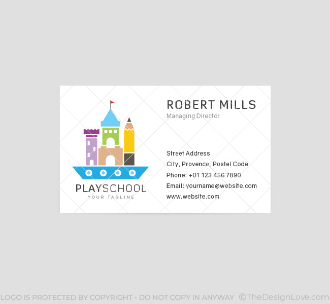 Play school logo business card template the design love 045 play school logo business card template colourmoves Choice Image