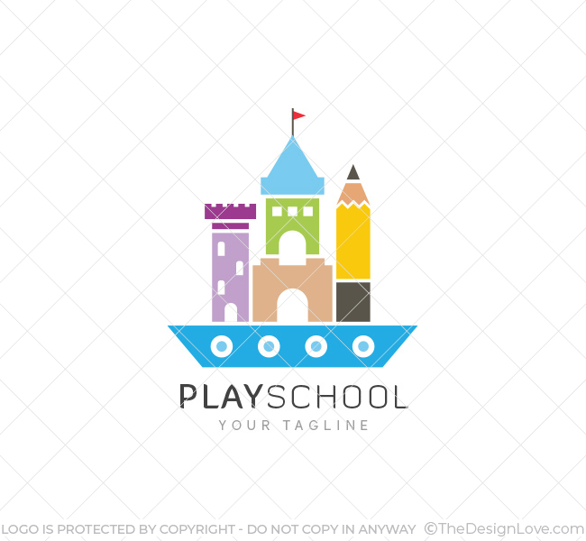 play school logo amp business card template the design love