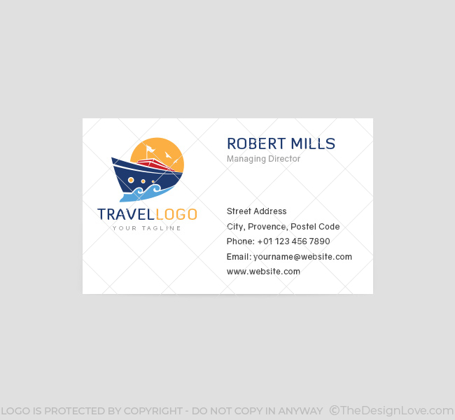 travel agency logo  u0026 business card template