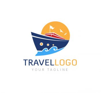 Travel Agency Logo & Business Card Template
