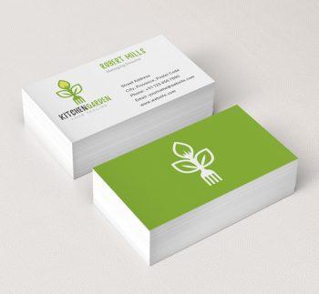 ... 047 Kitchen Garden Logo U0026 Business Card Template