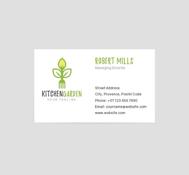 047-Kitchen-Garden-Logo-&-Business-Card-Template-Front