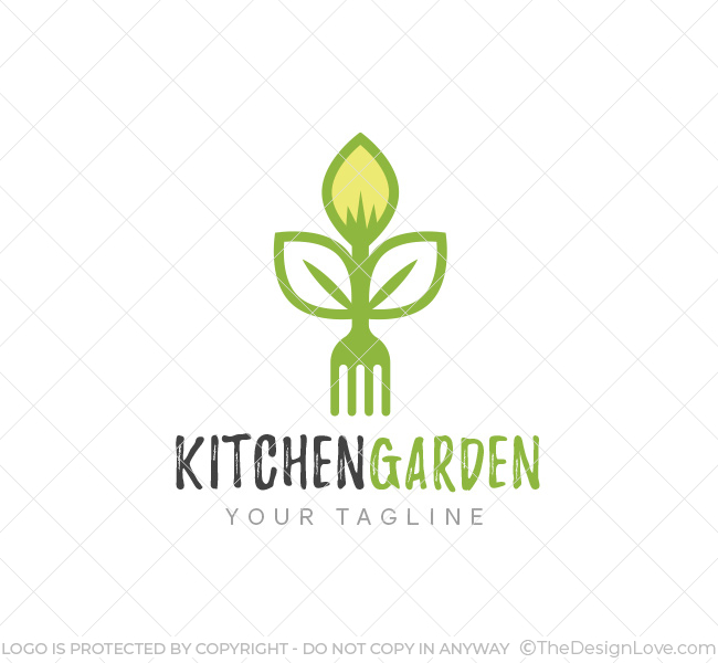 Kitchen Garden Logo Amp Business Card Template The Design Love