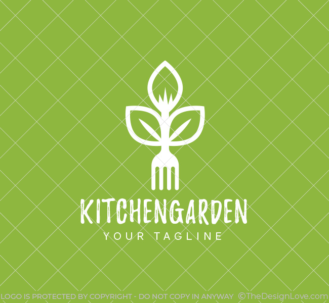 Kitchen garden logo business card template the design love for Kitchen decoration logo
