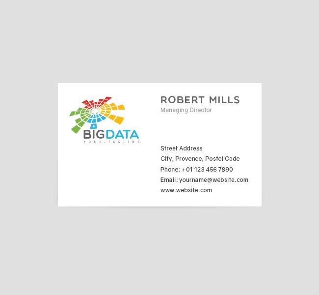 Big data logo business card template the design love 048 big data logo business card template colourmoves