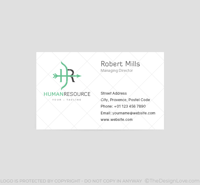 049-HR-Logo-&-Business-Card-Template-Front