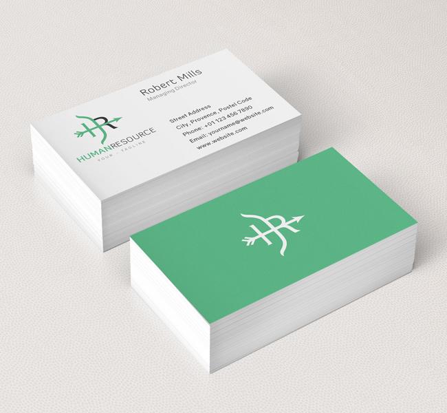 049-HR-Logo-&-Business-Card-Template
