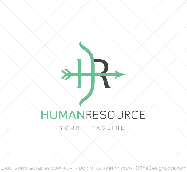 Hr Logo Amp Business Card Template The Design Love