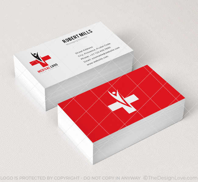 Medical Logo Business Card Template The Design Love – Medical Business Card Templates