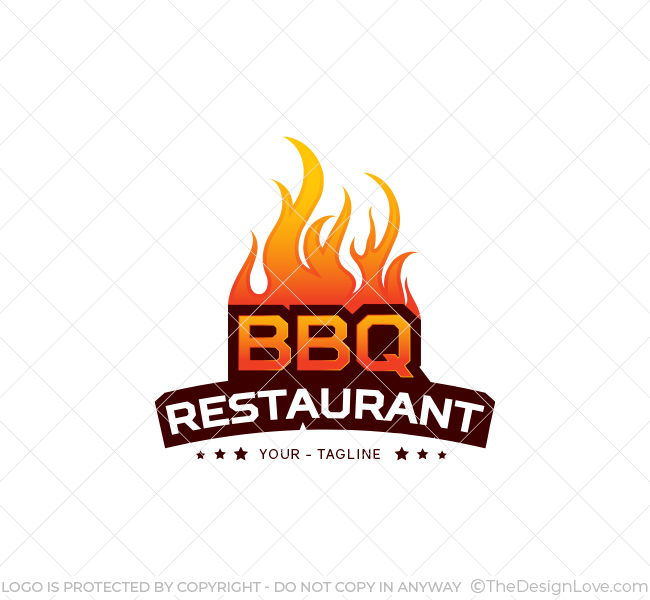 Bbq restaurant logo business card template the design love bbq restaurant logo cheaphphosting Choice Image
