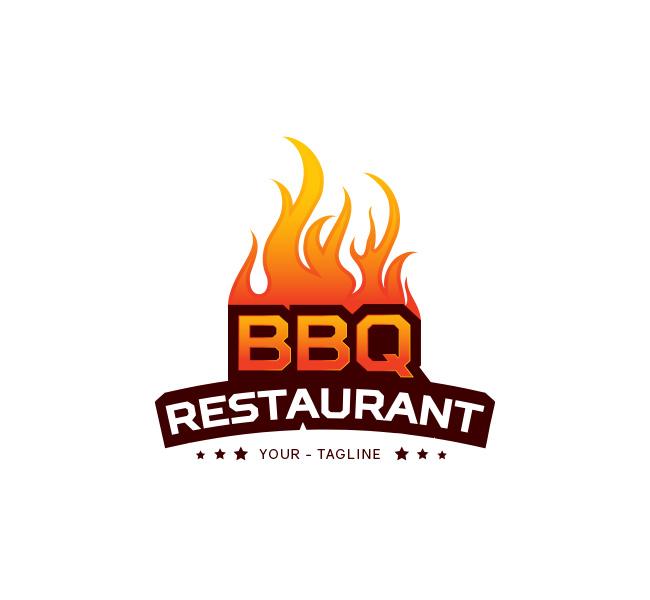 bbq restaurant logo business card template the design love
