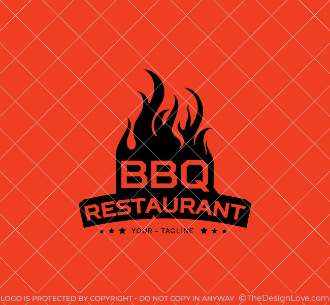 Bbq Restaurant Logo Amp Business Card Template The Design Love
