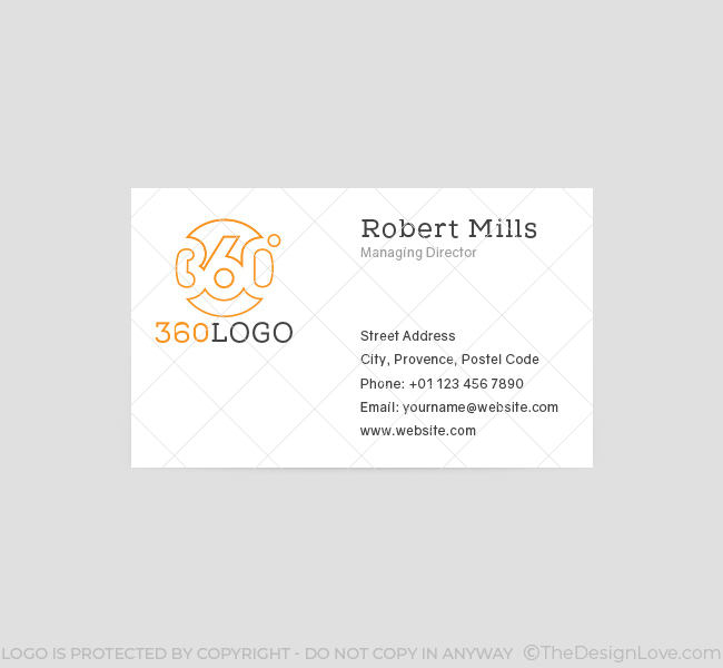 360 degree logo business card template the design love 052 360 degree logo business card template reheart Image collections