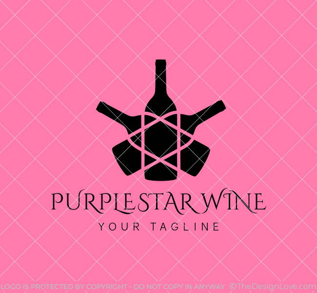 053-Purple-Star-Wine-Logo--Template_B
