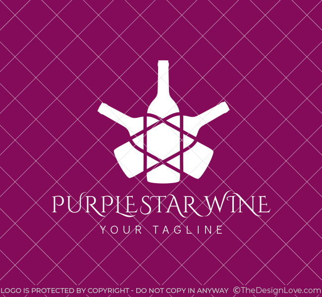 053-Purple-Star-Wine-Logo--Template_W