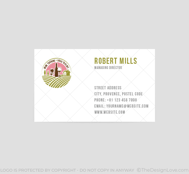 054 Wine Touring Logo-&-Business-Card-Template-Front