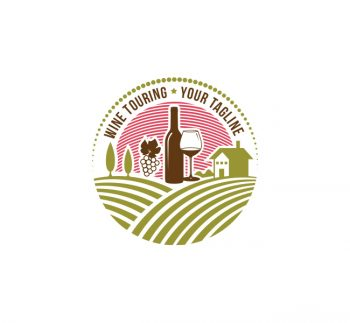Wine Touring Logo & Business Card Template