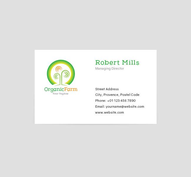 055-Organic-Farming-Logo-&-Business-Card-Template-Front