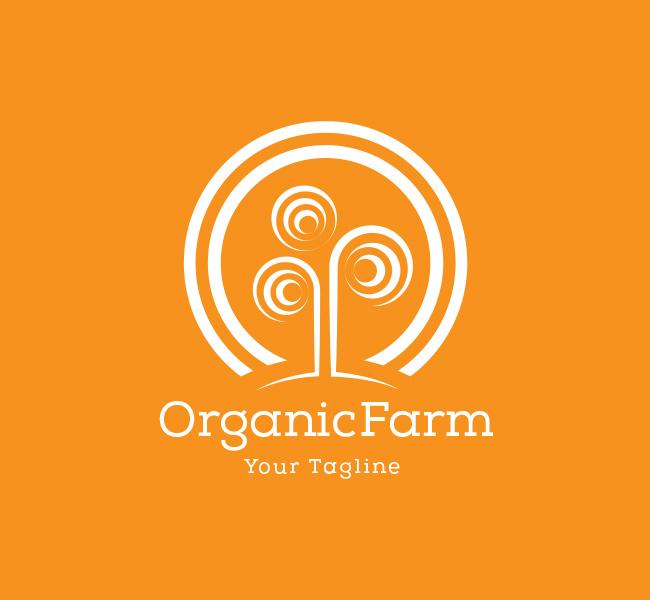 organic farming logo  u0026 business card template