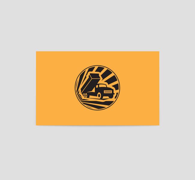 Dump Truck Logo Amp Business Card Template The Design Love