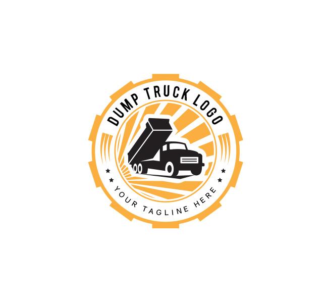 Dump Truck Logo Business Card Template