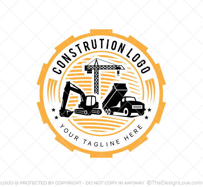 Construction service logo business card template the design love reheart Gallery