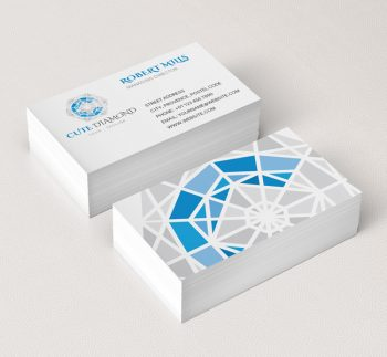 058-Diamond-Logo-&-Business-Card-Template