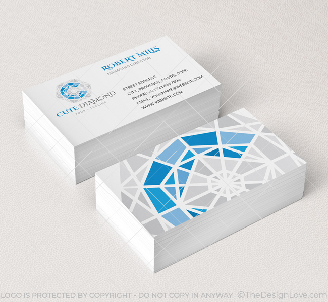 diamond logo business card template the design love